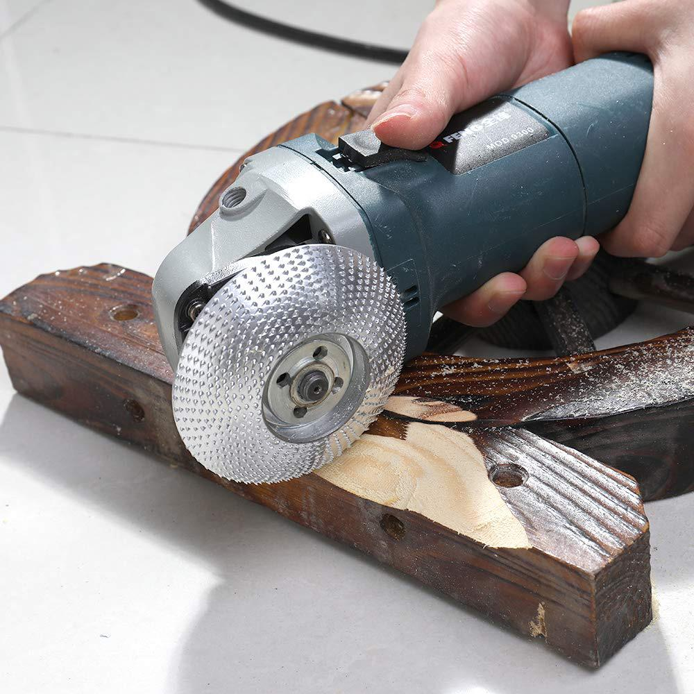 Wood Grinding Wheel Carving Tool Rotary Abrasive Disc for Angle Grinder
