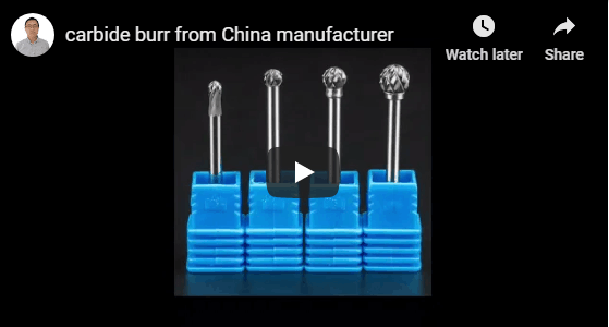 different shape carbide burrs from china manufacturer