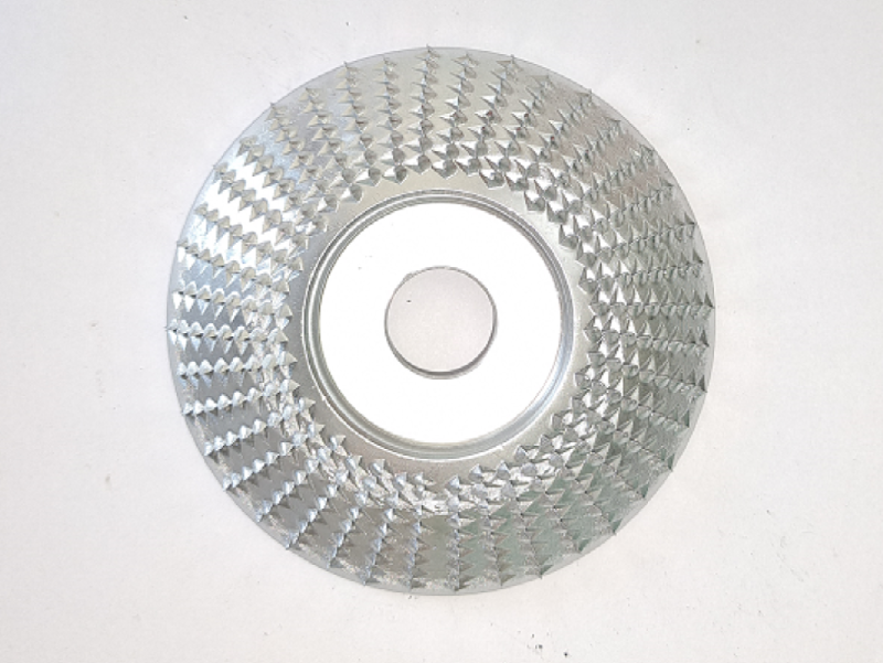 3.35 inches outside diameter 0.87 inches inside diameter Half round  grinding disc