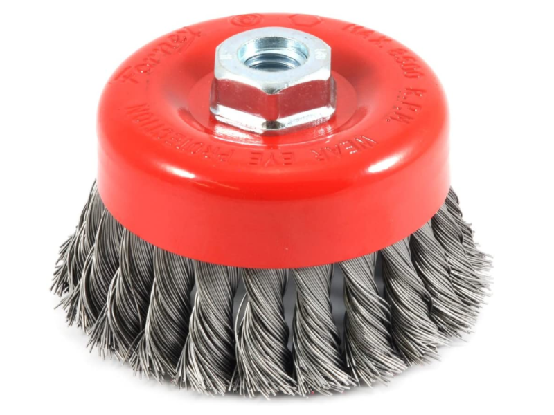 Knotted Wire Cup Brush for remove rust